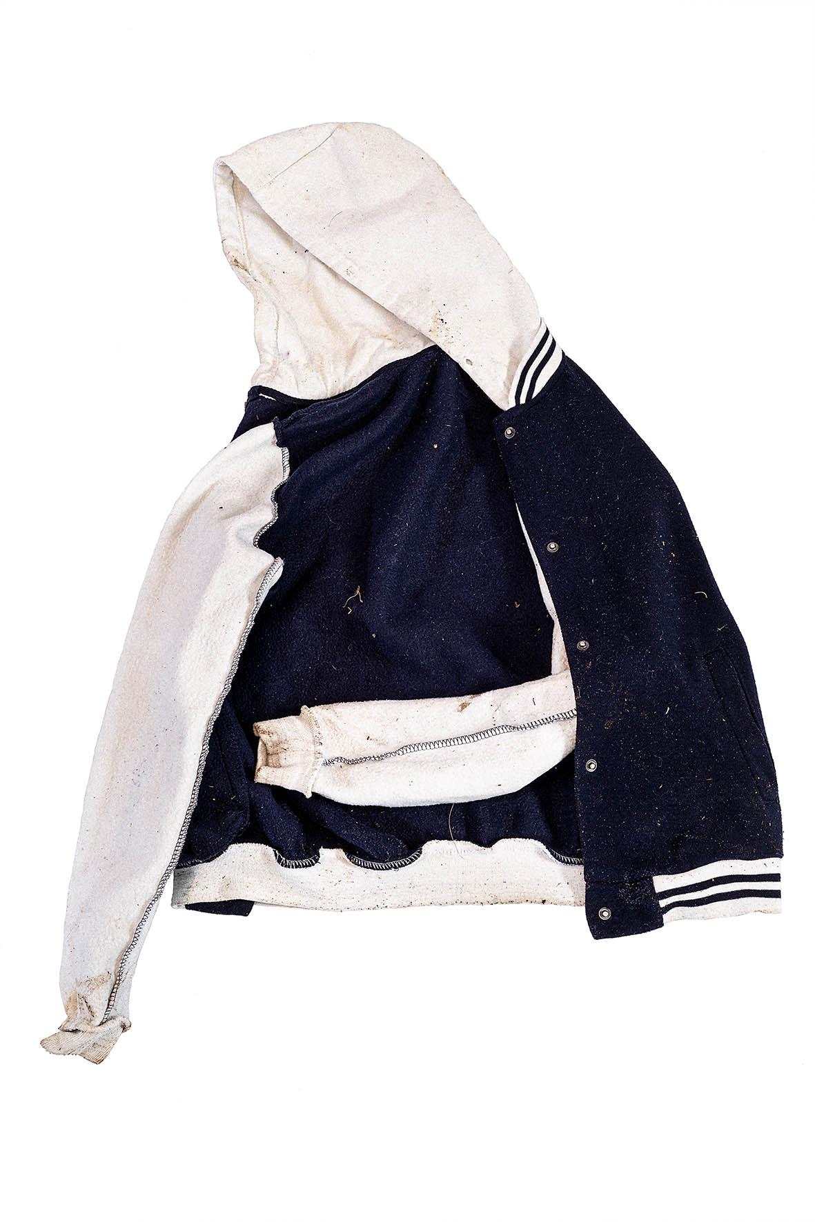 Felpa bambino blu navy/bianco Tg. S